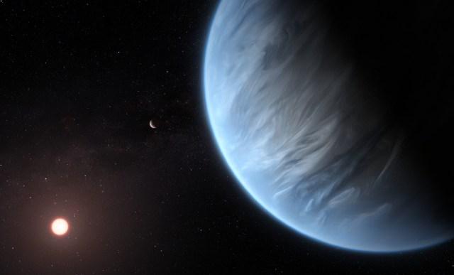 {focus_keyword} Hubble spots liquid water on a 'super-Earth' 110 light-years away k2 exo art