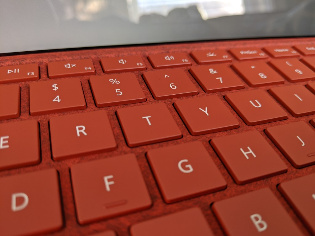 surface pro 7 red keyboard
