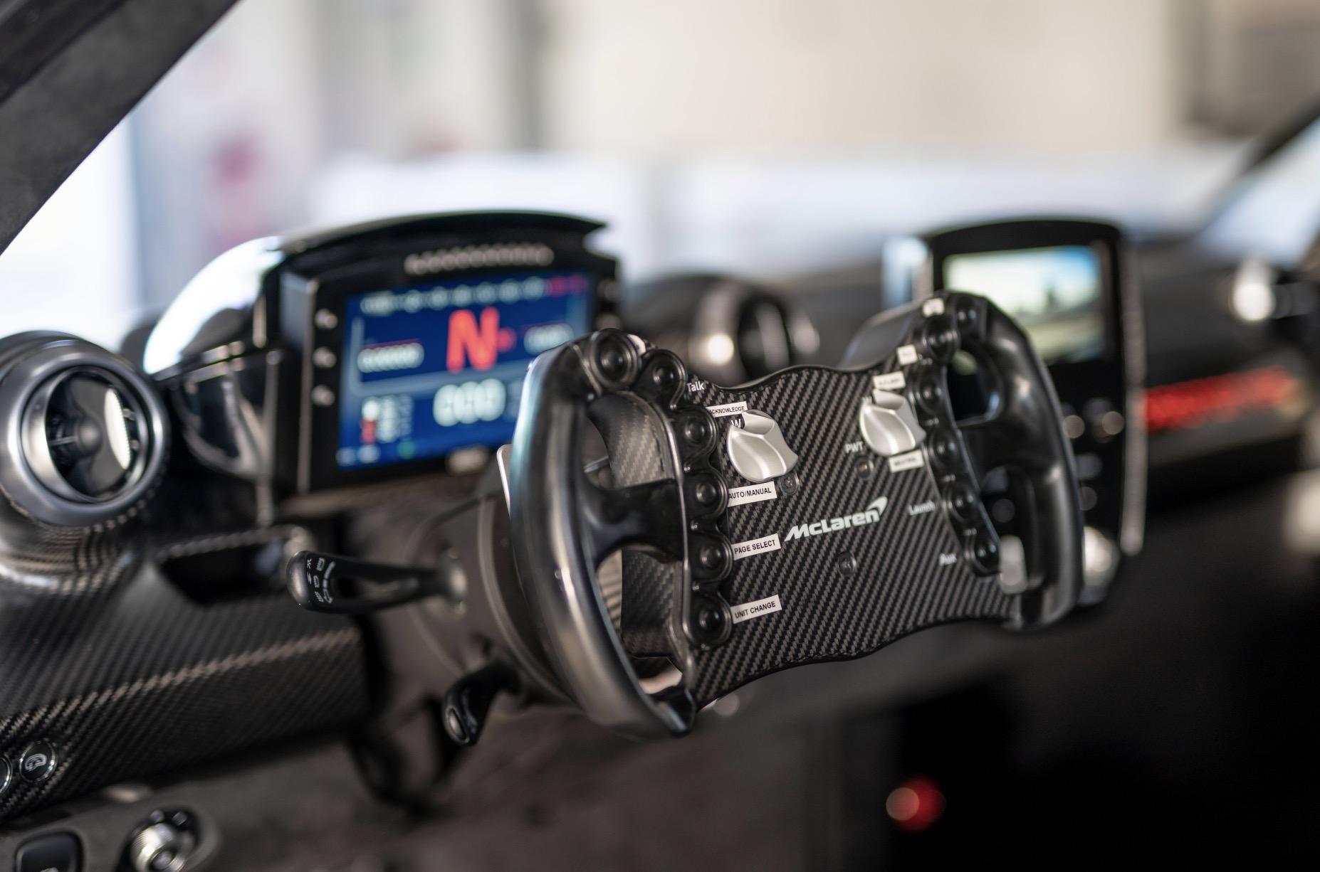 McLaren Senna GTR cockpit