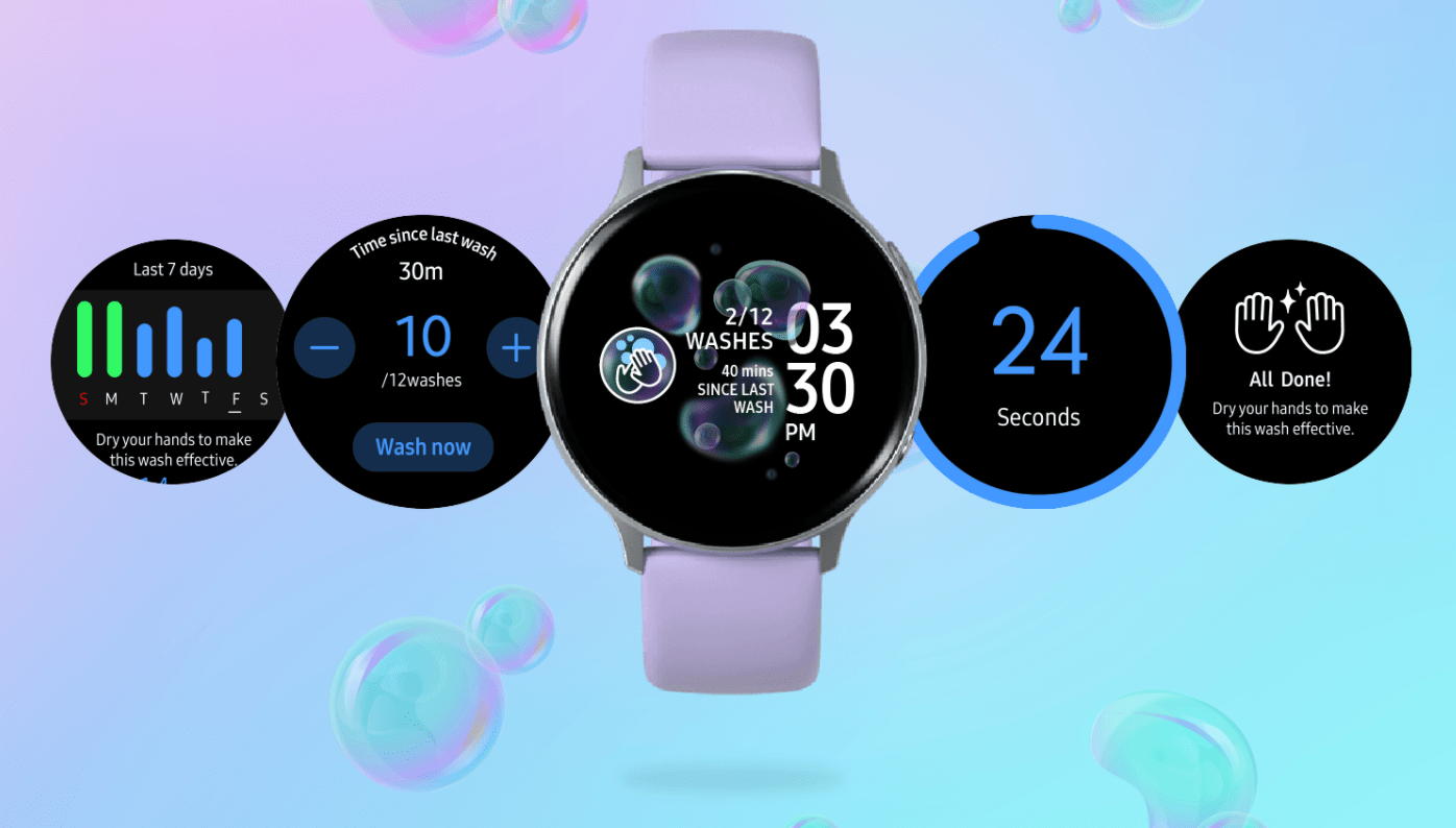 La nouvelle application Galaxy Watch de Samsung vous rappelle de vous laver les mains, idiot