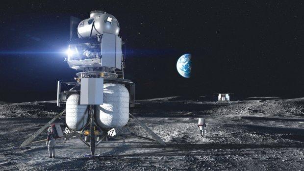 CG Render of what Blue Origin and Lockheed's lunar lander is expected to look like.