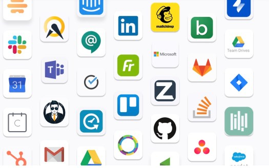 Logos of companies in the Zoom Apps marketplace