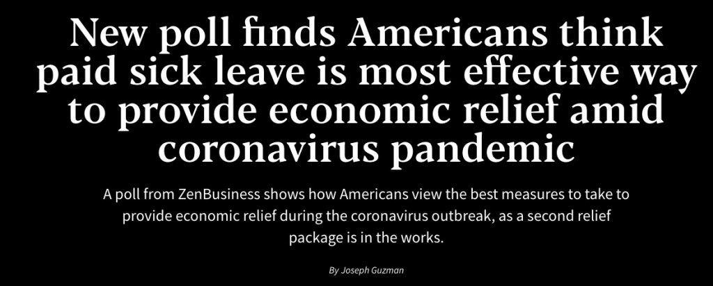 zen business poll on sick leave