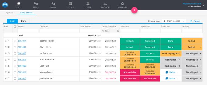 Katana software screen shot