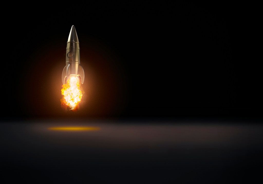 Rocket taking off
