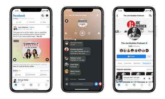 Facebook officially launches Live Audio Rooms and podcasts in the U.S. – TechCrunch 8