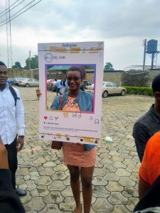 Akonte Victoria Wokoma at the Fb Start Accelerator Road show Port-Harcourt