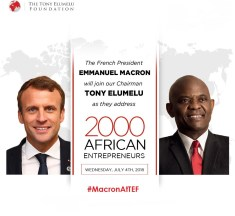 Key take home from Emmanuel Macrons and Tony Elumelu's session with 2000 African Entreprenuers