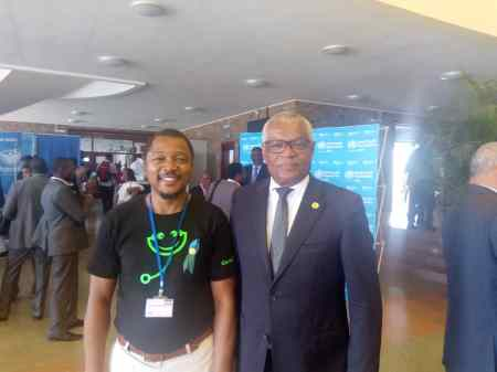 With the Minister of Health Cape Verde - Arlindo do Rosário