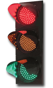 An LED traffic light