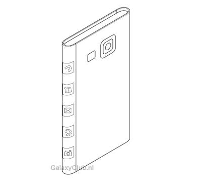 Primi brevetti Samsung per device con schermo su 3 lati