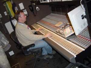 Matt Benedict working on a Digital SSL audio console