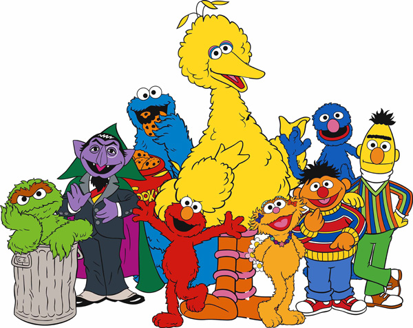 Baby Sesame Street Characters Draw