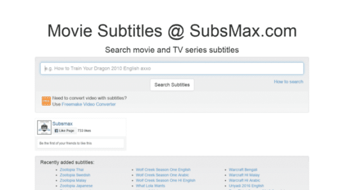 "Subsmax - ""10 Best Sites To Download Subtitles For Movies For Free"""