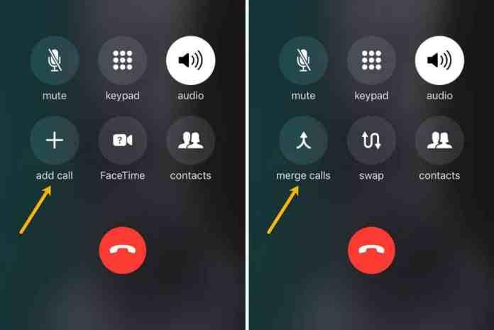 Add and merge calls