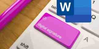 Microsoft Word Digital Signature