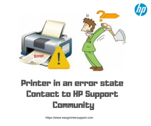 77cc3 printer in an error state hp support community