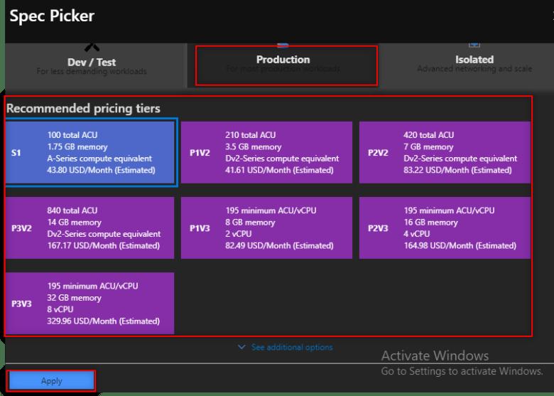 App-service-plan-under-production-pricing-Tier