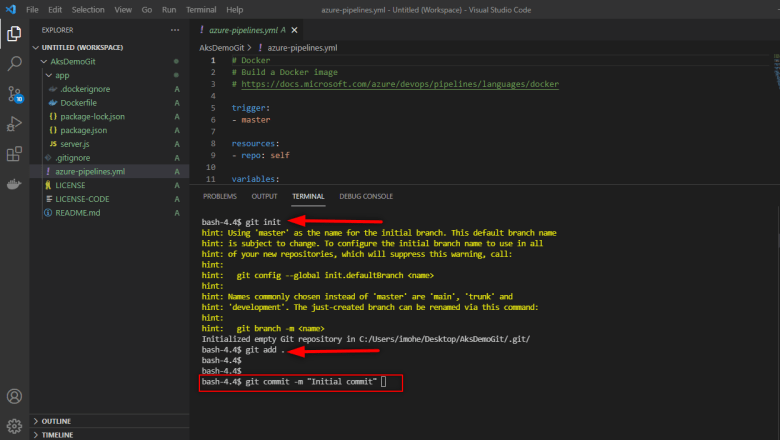 Git-initialized-interface
