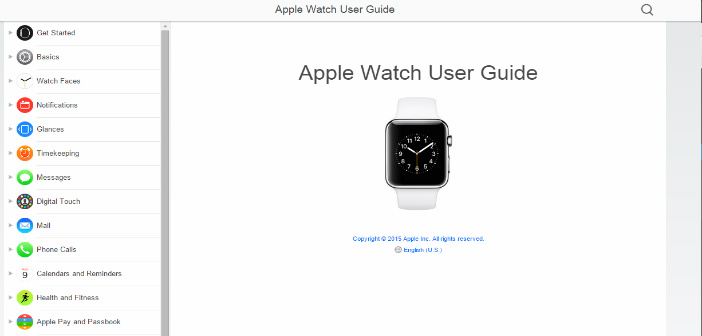 Apple Releases User Guide For The Apple Watch