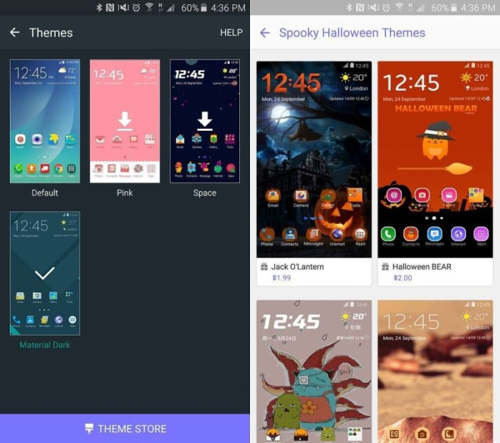 Galaxy Note 5 Theme Store