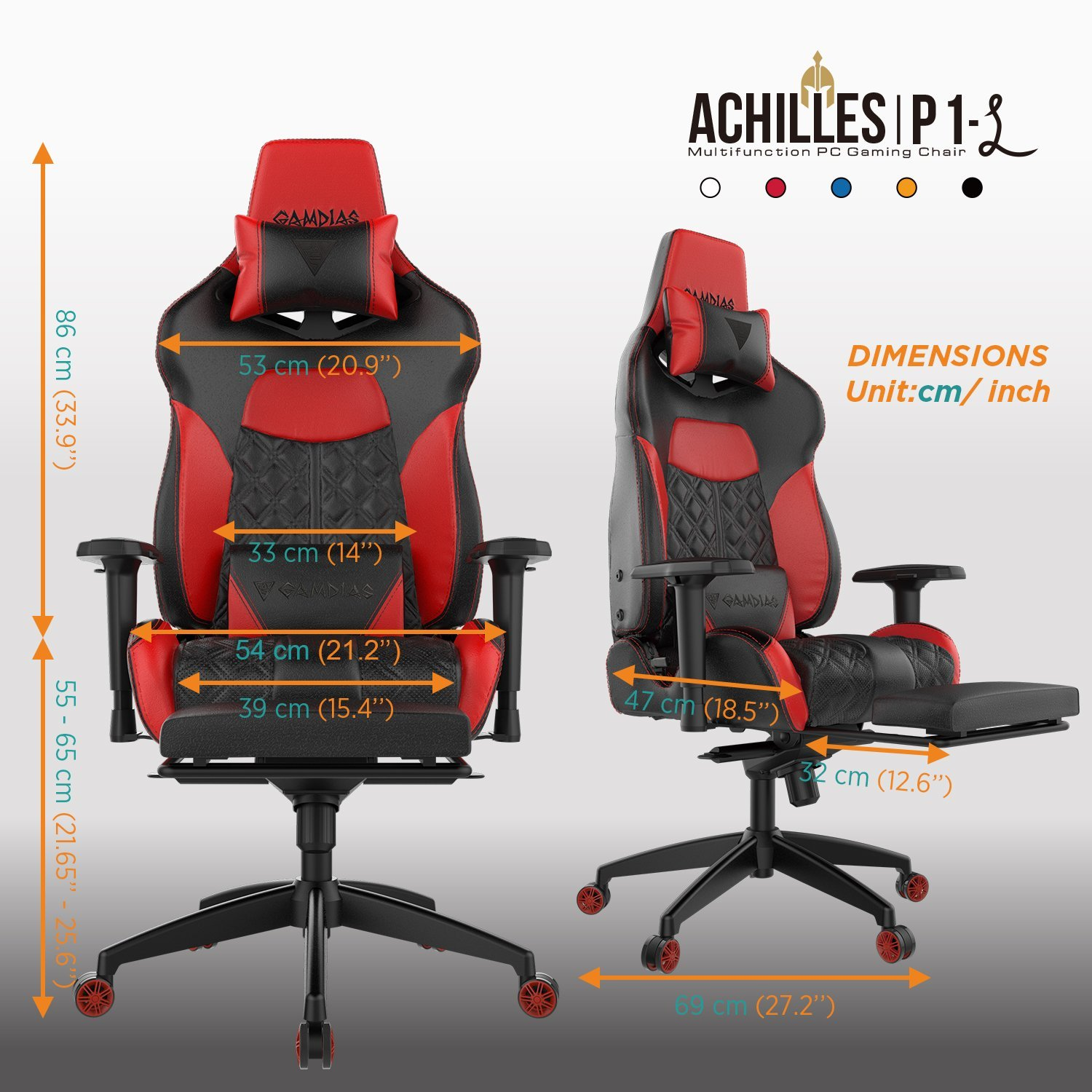 Most Comfortable Chair For Gaming Review Gamdias Achilles P1 Gaming Chair Techdissected