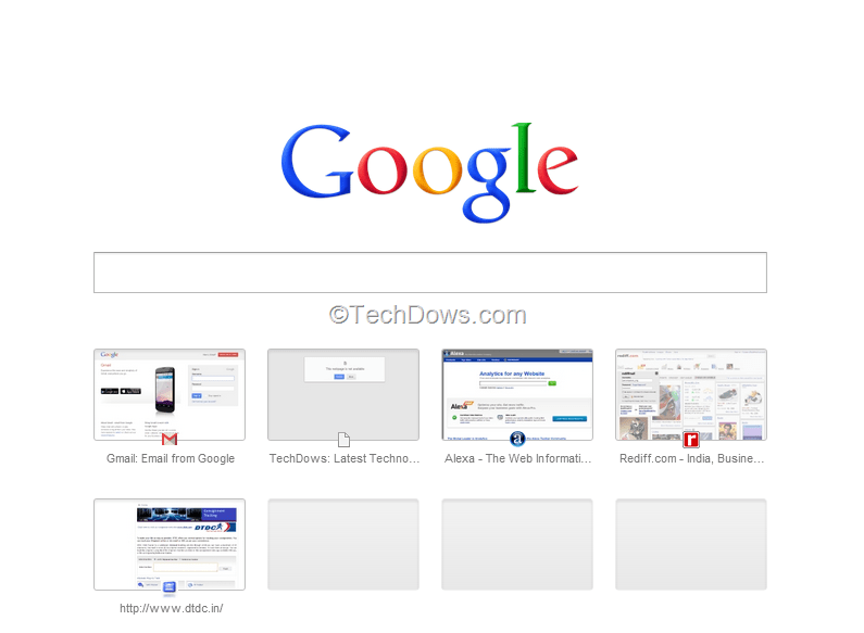 Chrome's New Tab Page with (Google) Search Box is awful