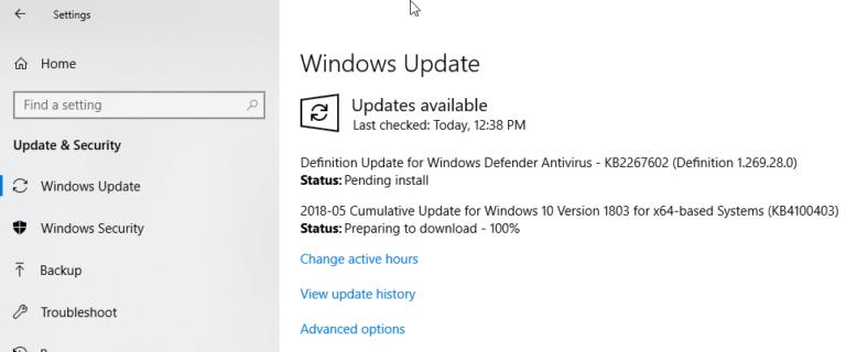 KB4100403 Cumulative Update for Windows 10 v1803 released
