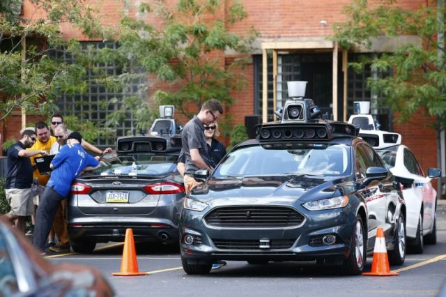 Uber's self driving Ford Fusion