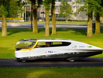 STELLA, THE FIRST SOLAR POWERED CAR HITS THE U.S. ROAD