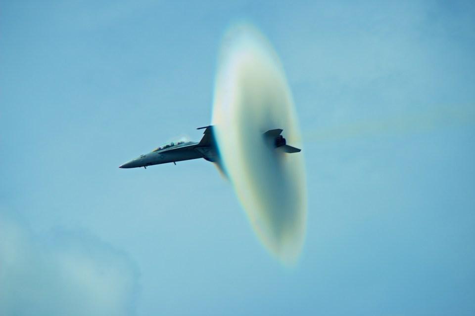 Flying through speed of sound