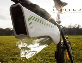 Self-Filling Water Bottle For Your Bicycle
