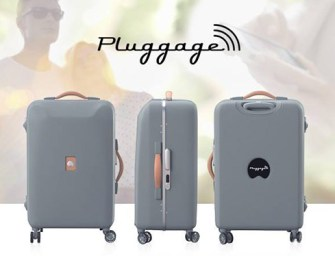 Pluggage Suitcase Is For The Smart Traveler
