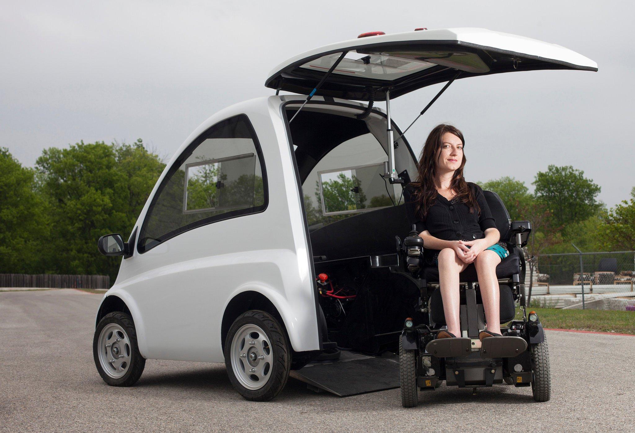 wheelchair genius lightest fishing chair reviews kenguru a car for drivers on wheelchairs techdrive