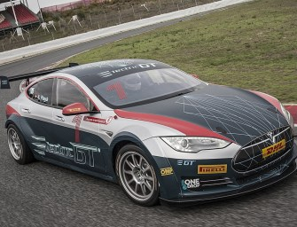 Electric GT's race-ready Model S Tesla P100D makes debut in Barcelona