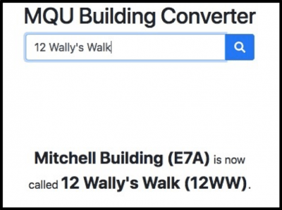 a screenshot of Building name Converter
