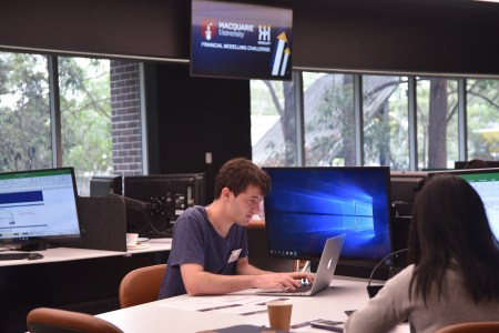 Person participating in Macquarie ModelOff Competition