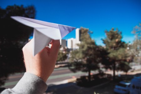 launching a paper plane
