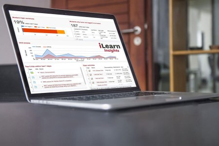 ilearn insights on laptop