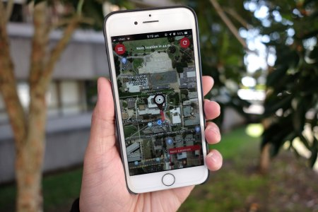 Photo of iPhone showing Walking Darug Country app