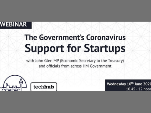 Webinar: Government Support for Startups by Coadec