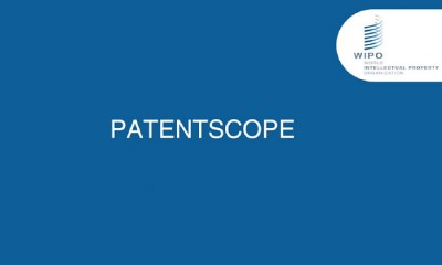 WIPO PATENTSCOPE