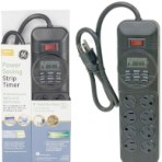 GE 7-Day 8-Outlet Power Saving Strip Timer