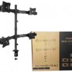 "13"" – 27"" QUAD SCREEN MONITOR DESKTOP MOUNT For 4 x 13"" – 27"" screens"