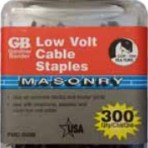 Gardner Bender Low Volt Cable Staples – Masonry