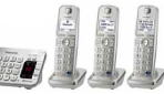 Panasonic Digital Cordless Answering DECT 6.0 System with Link-to-Cell Bluetooth Convergence 5 Handsets