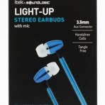 Earbuds (assorted colours may include blue, purple or rainbow)