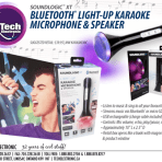 Bluetooth® Light-Up Karaoke Microphone & Speaker
