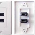 DUAL HDMI WALL PLATE – WHITE