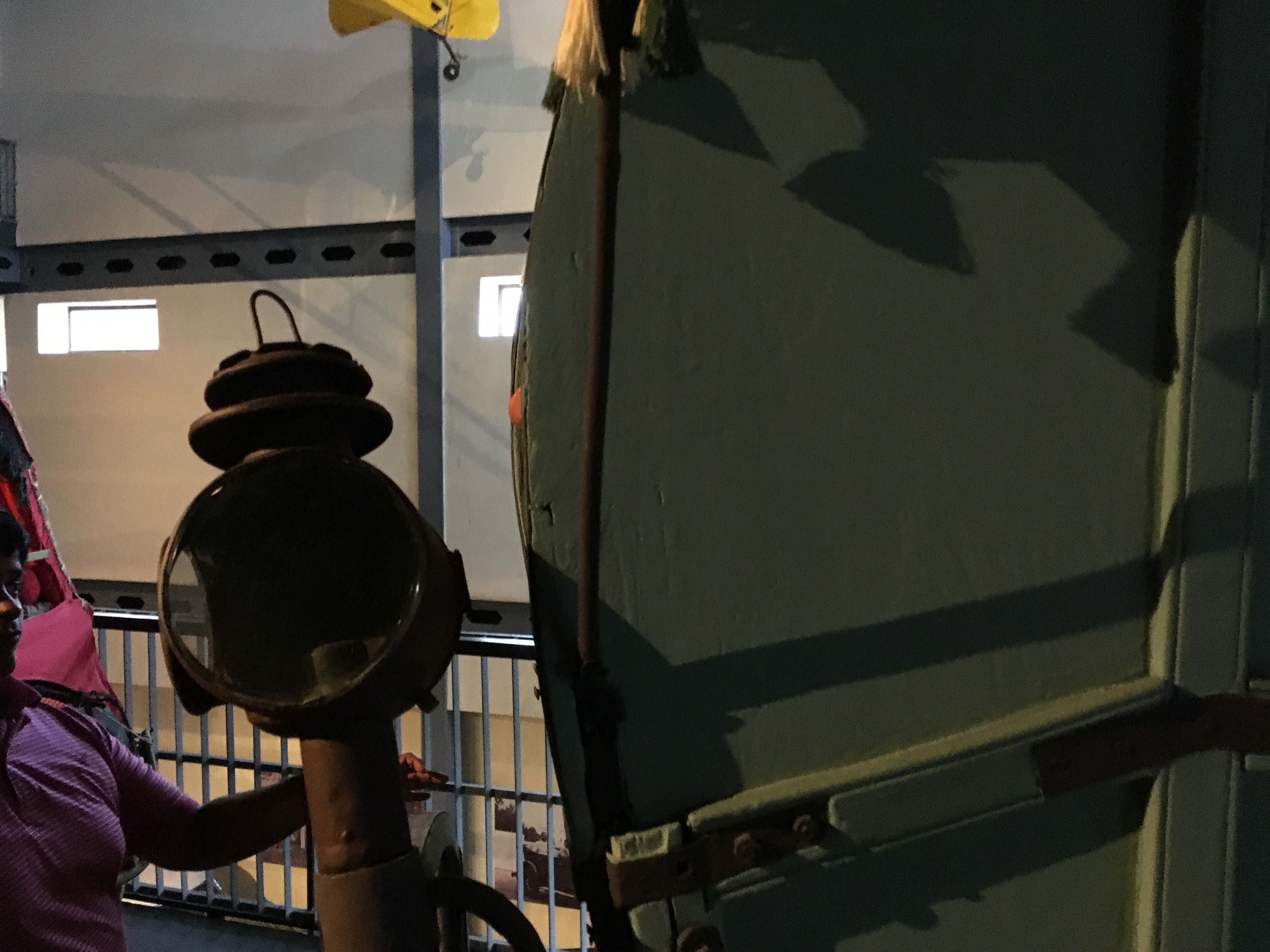 The side lamp on a bullock cart